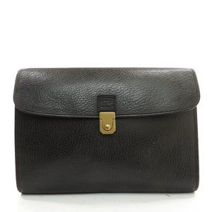 Auth Burberry Briefcase Black Leather #19896B56